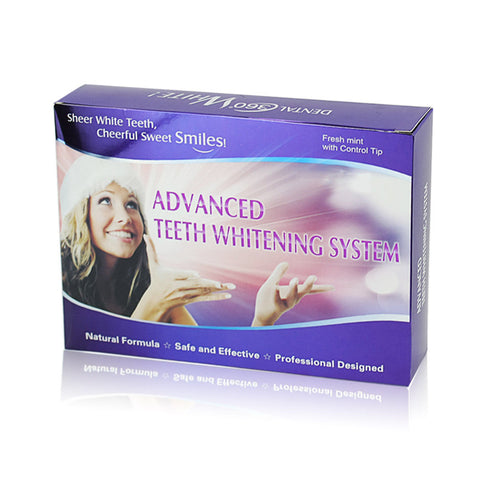 Image of Teeth Whitening Kit With 4 Gel 2 Strips 1 Light 1 Box Tooth Whitener Bleach Bright White 3D Oral Hygiene Dental Care Bleaching