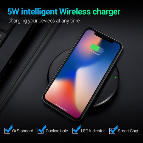 Image of Qi Wireless Charger For iPhone & Samsung
