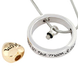 Love You To The Moon And Back Memorial Screw Urn Necklace