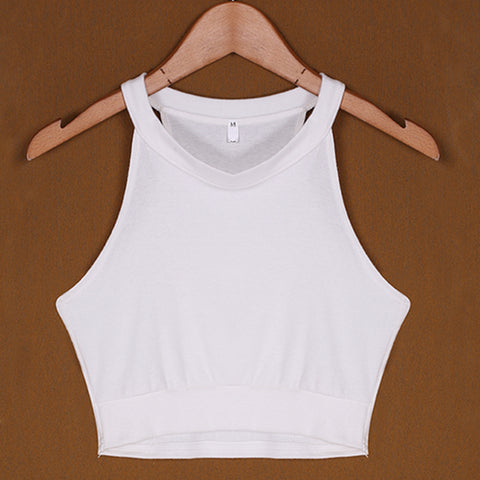 Image of Summer Beach Cropped Women Tank Tops