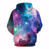 Space Galaxy 3D Sweatshirts Hoodies With Hat Stars Nebula