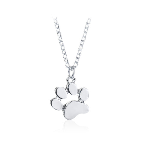 Image of Cat and Dog Paw Print Animal Chokers Necklace