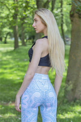 Mandala Mint High Elasticity Fitness Leggings