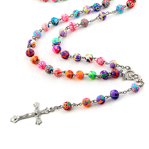 Image of Virgin Mary Cross Rosary