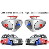 2 in 1 Car Blind Spot Mirror Wide Angle Mirror