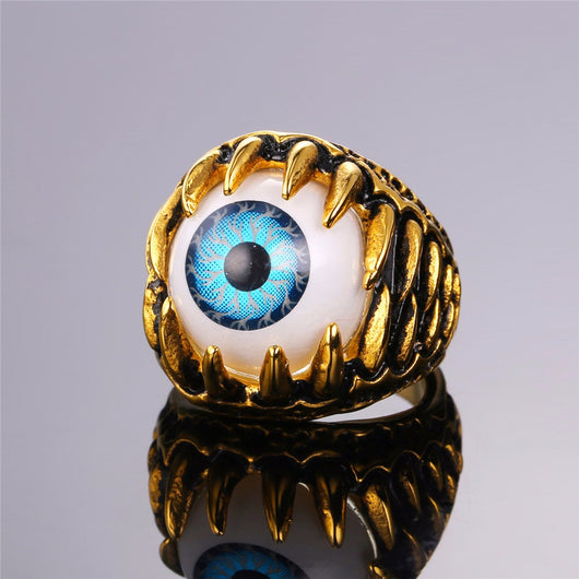 Turkish Eye Rock Punk Trendy Illuminati Rings