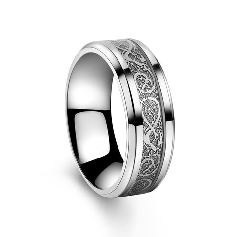 Image of 316L Stainless Steel Dragon Wedding Band