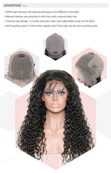 13x6 Lace Front Human Hair Wigs For Women Natural Black