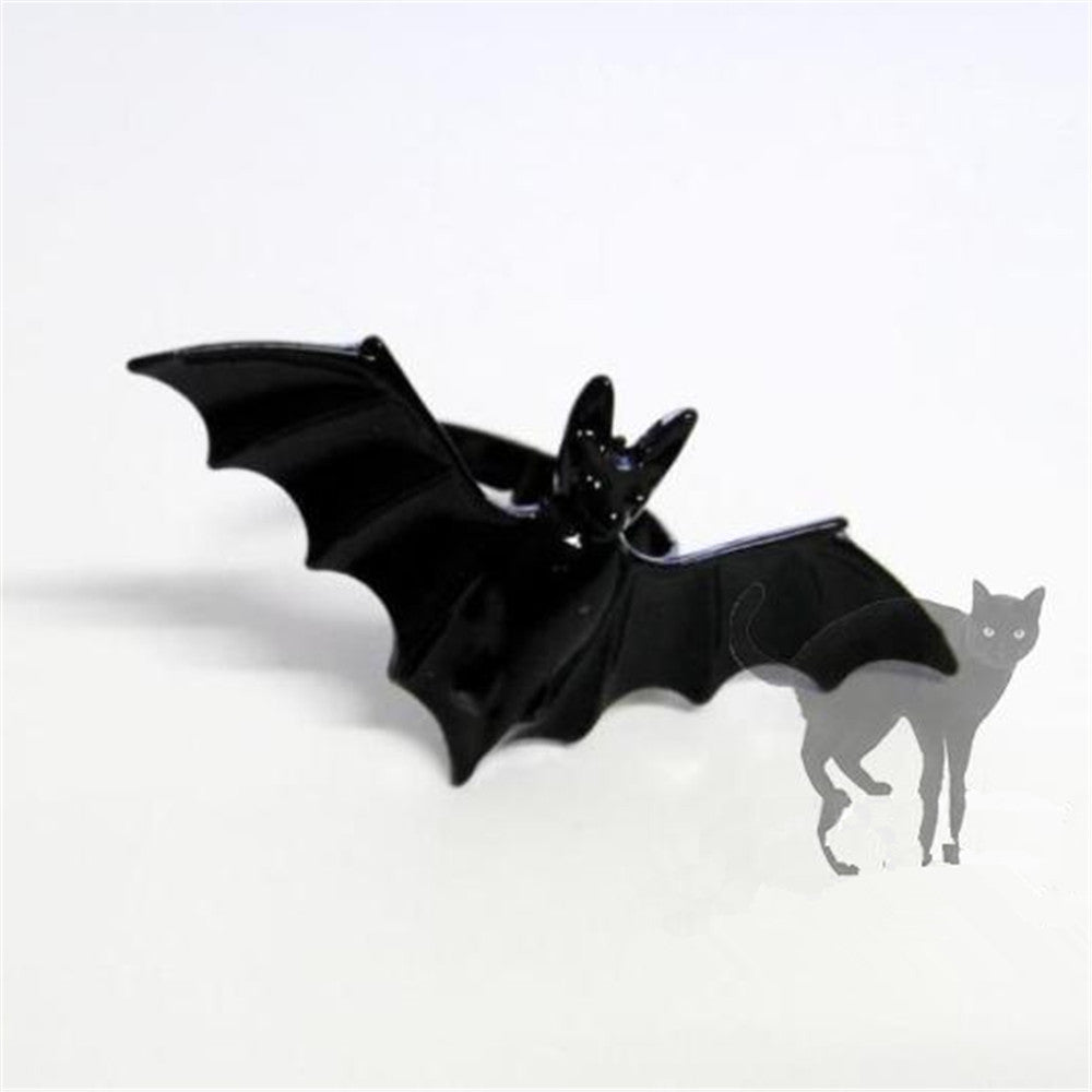 European and American Black Bat Personality Ring