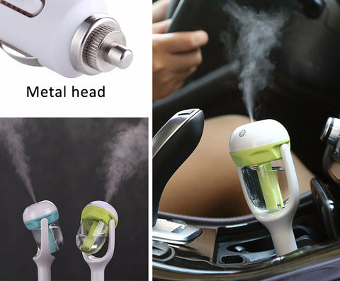 Image of Car Aroma 12V Steam Air Humidifier Mini Air Purifier Aromatherapy Essential Oil Diffuser