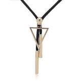 Triangle and Square Pendants Necklace
