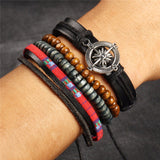 Anchors Leather Bracelets Bangles Wristband Jewelry