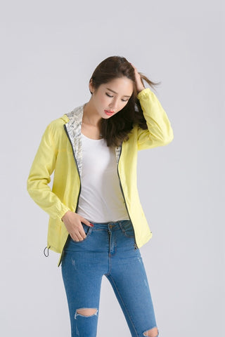 Women Bomber Basic Two Side Wear Jacke