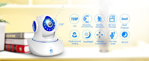 720P 1080P HD Smart WiFi Home Security IP Camera