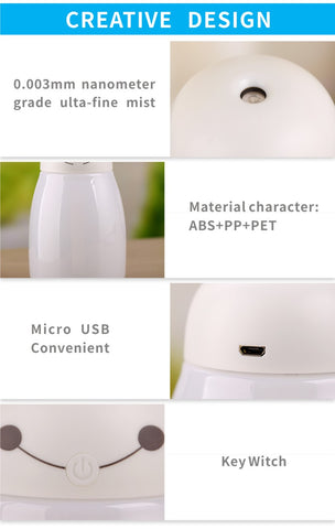 Image of 400ml Air Humidifier Aroma Essential Oil Diffuser Aromatherapy USB Ultrasonic Mist