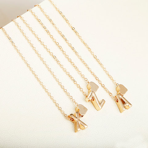 Image of Tiny Gold Initial Necklace