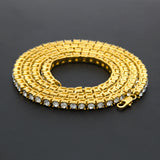 Hip Hop Bling Bling Iced Out Tennis Chain Necklace