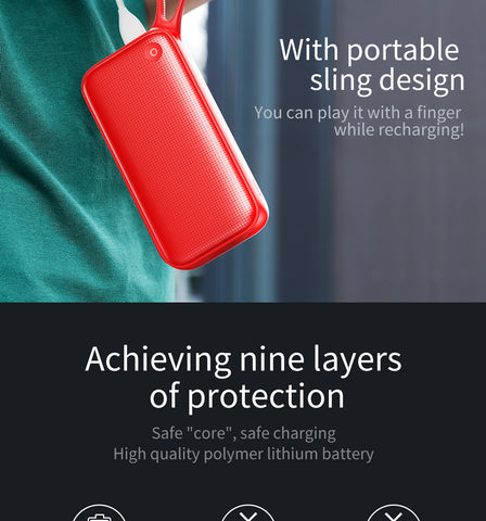 Image of 20000mAh Powerbank Portable External Battery Charger For Outputs