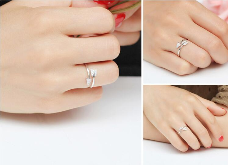 Arrow Crystal Adjustable Engagement Ring