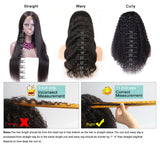13x6 Silky Straight Lace Front Human Hair Wigs With Baby Hair