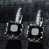 Shining Boucle d'oreille Square Zircon Wedding Earrings