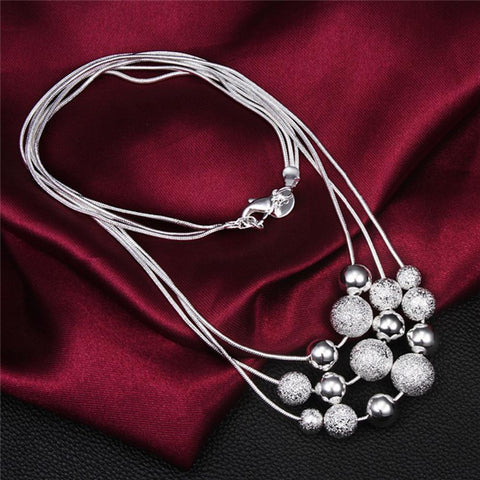 Image of Simulated Pearl Pendants Necklaces