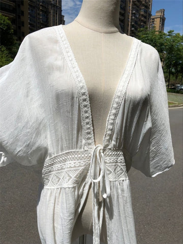 Image of Long Kaftan Beach Cover Up