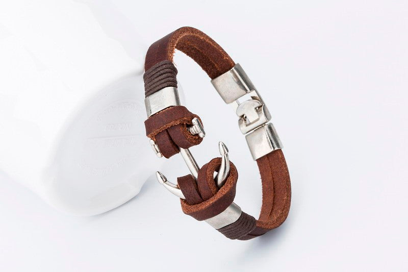 Handmade Leather Bracelets Hooks Men's Bracelets