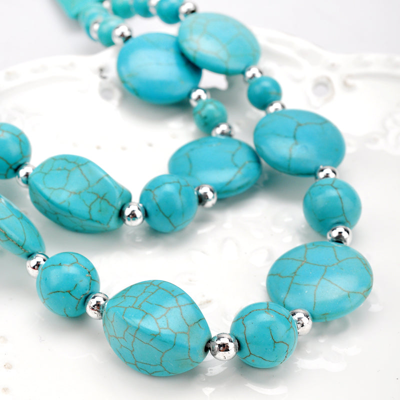 Natural stone Beads Choker Vintage Necklaces