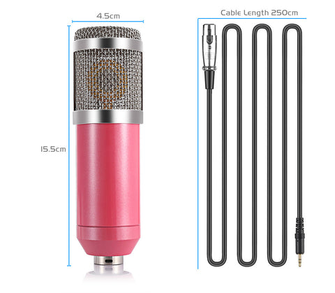 Image of BM 800 Computer Microphone 3.5mm Wired Condenser Sound Microphone