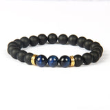 Tiger Eye Beads Lovers Distance Bracelet