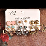 Girls Birthday Party Pearl Earrings Set Mashup 6 Pairs