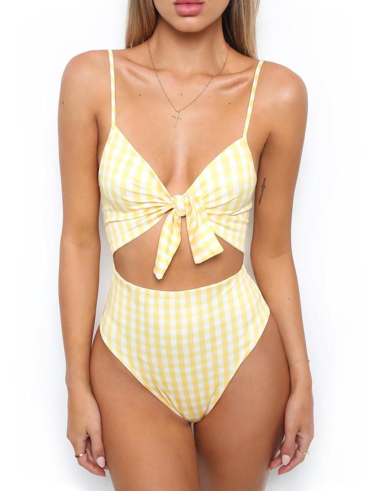 Floral One Piece Bathing Suit
