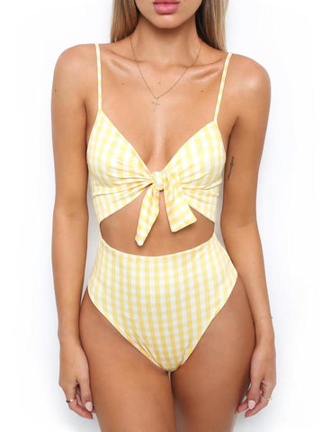 Image of Floral One Piece Bathing Suit