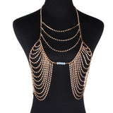 Sexy Love Rhinestone Brassiere Body Necklace