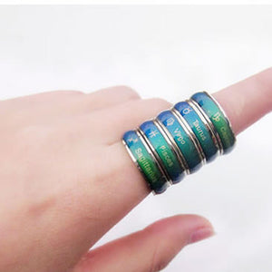 12 Constellation Zodiac Signs Changing Color Rings