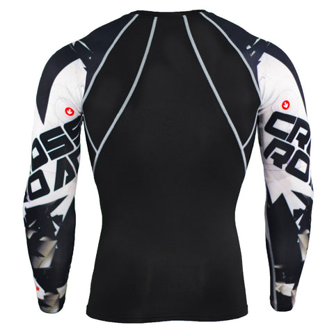 Image of Men's Compression 3D Teen Wolf Jerseys Long Sleeve