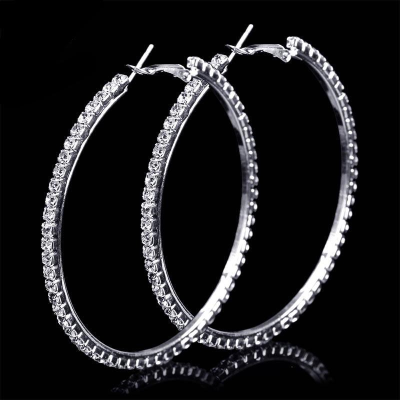 Big Rhinestone Circle Earrings