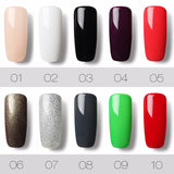 1 Black Bottle 7ML Gel Lacquer Pure Color 58 Colors 31-58 UV LED Gel Nail Polish