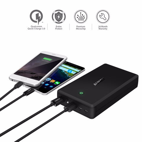 Image of Power Bank Quick Charge 3.0 Dual Usb Mobile Phone Charger For Xiaomi etc