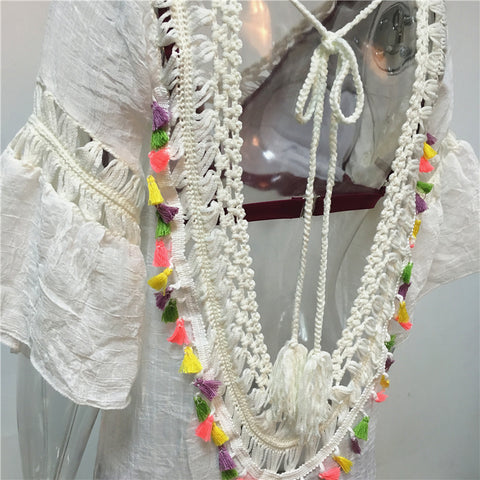 Image of Tassel See-Through Crochet