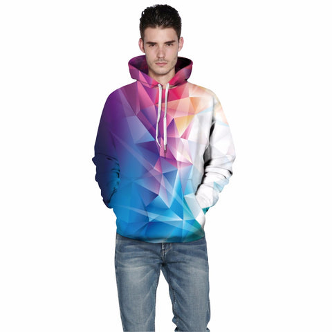 Image of 3D Sweatshirt Unisex Hoody With Hat