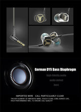 DM7 Special Edition Gold Plated Housing Headset Noise Isolating HD HiFi Earphone