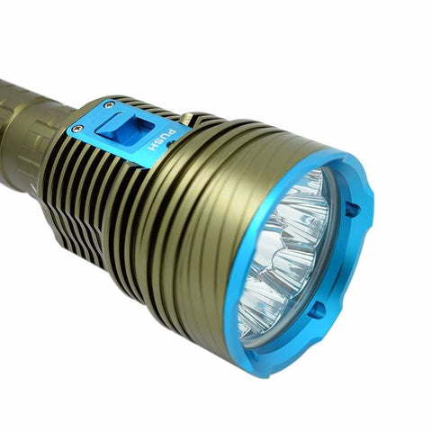Image of 20000 Lumens 9 x XML L2 Bright LED Diving Flashlight
