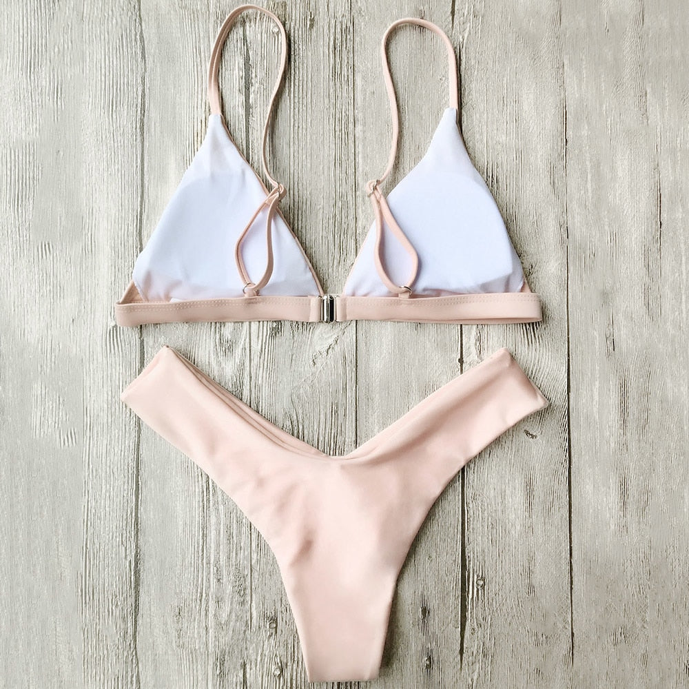 Soft Pad Thong Bathing Suits