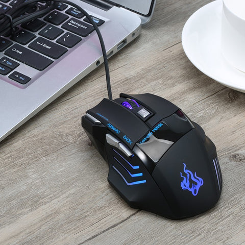 Image of 5500 DPI 7 Button LED Optical USB Wired Gaming Mouse Mice