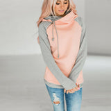 Double Hoodies Sweatshirt Casual Patchwork