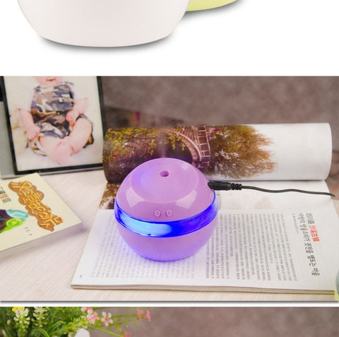 Image of DC 5V Ultrasonic Air Aroma Humidifier Color LED Lights Electric Aromatherapy Essential Oil