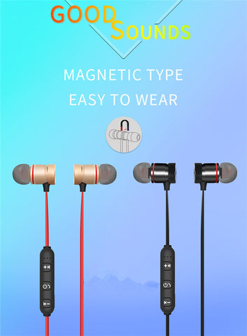 Image of Wireless Bluetooth Earphone For Phone Neckband With Microphone