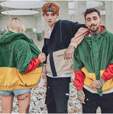Corduroy Hooded Hip Hop Hoodies Coats Casual Streetwear Jackets